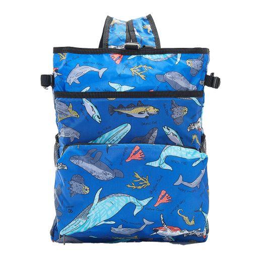 Eco Chic - Backpack Cooler (rugzak koeltas) - J04BU - Blue Sea Creatures