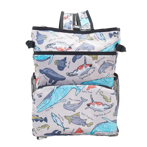 Eco Chic - Backpack Cooler (rugzak koeltas) - J04GY - Grey Sea Creatures