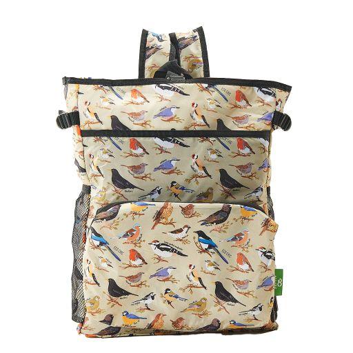 Eco Chic - Backpack Cooler (rugzak koeltas) - J06GN - Green Wild Birds