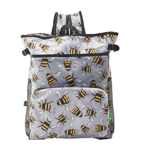 Eco Chic - Backpack Cooler (rugzak koeltas) - J10GY - Grey Bees